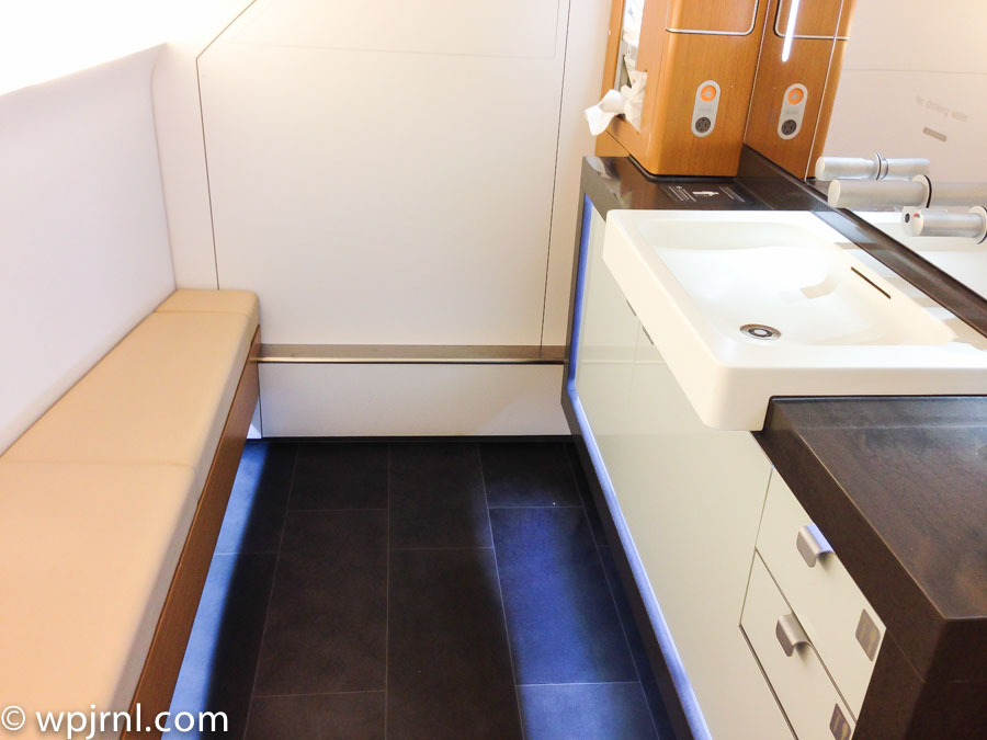 Lufthansa A380 Bathroom in First Class - A380 Bathroom First